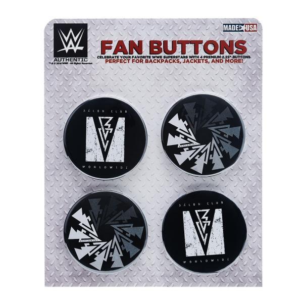 WWE Finn Balor(フィン・ベイラー) Balor Club Worldwide ビッグサイズ缶バッジ4個セット|bdrop