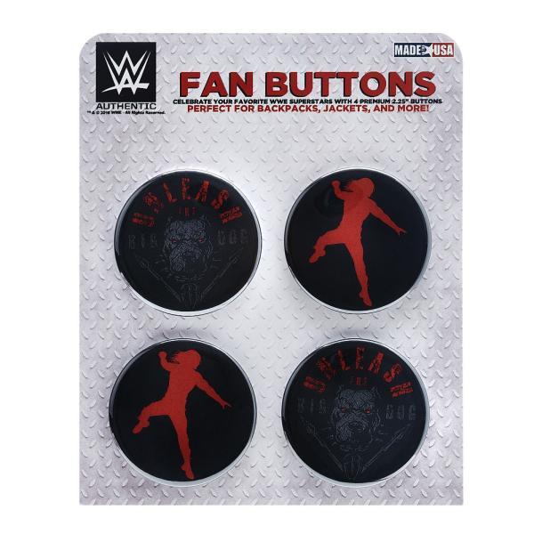 WWE Roman Reigns(ローマン・レインズ) Unleash The Big Dog ビッグサイズ缶バッジ4個セット|bdrop