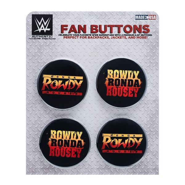 WWE Ronda Rousey(ロンダ・ラウジー) Rowdy Ronda ビッグサイズ缶バッジ4個セット|bdrop