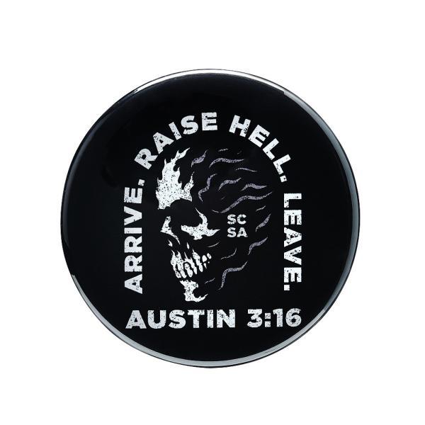 WWE Steve Austin(スティーブ・オースチン) Arrive Raise Hell Leave ビッグサイズ缶バッジ4個セット|bdrop|02