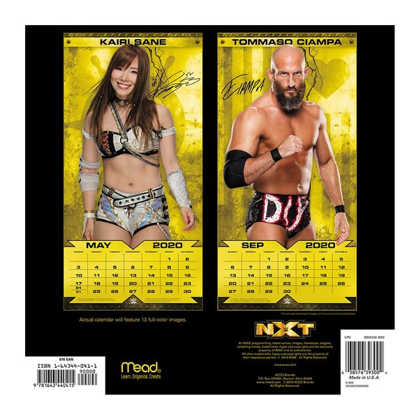 WWE NXT Superstars 2020年壁掛けカレンダー|bdrop|02