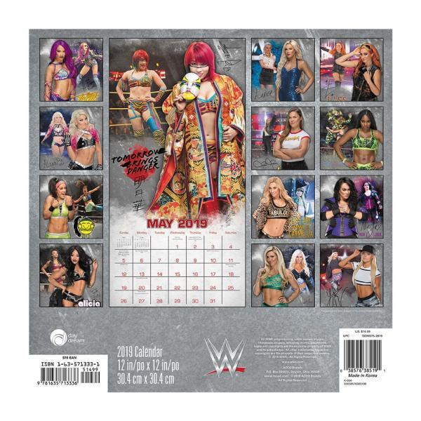WWE Women of WWE 2019年壁掛けカレンダー|bdrop|02