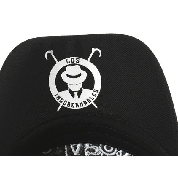 新日本プロレス NJPW 内藤哲也 ロス・インゴベルナブレス・デ・ハポン L・I・J キャップ 帽子 (ブラック×ホワイト) bdrop 05