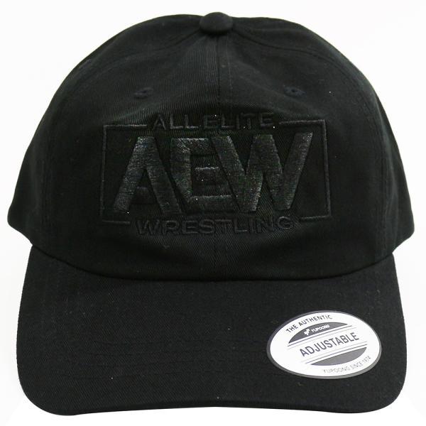 AEW Black Logo ダッドハット 帽子|bdrop