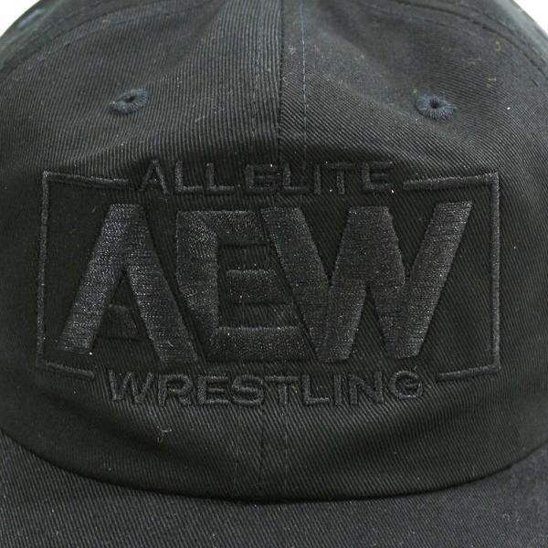 AEW Black Logo ダッドハット 帽子|bdrop|03
