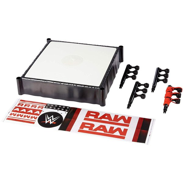 WWE Mattel Raw Superstar Wrestling Ring(スプリングマットギミック) オープンパッケージ版|bdrop|05
