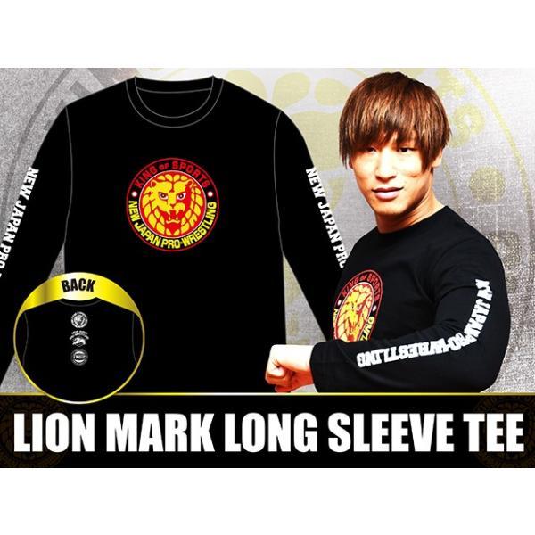 新日本プロレス NJPW ライオンマーク 長袖Tシャツ(カラーロゴ) bdrop 03