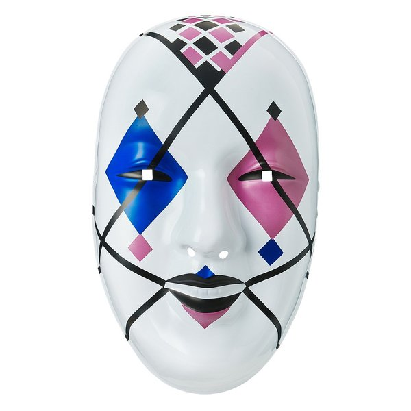 WWE Asuka(アスカ) Blue/Pink Diamonds プラスチックマスク|bdrop
