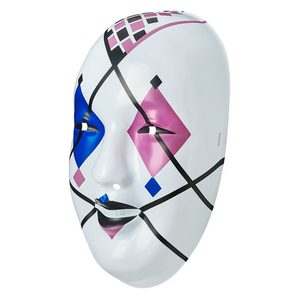 WWE Asuka(アスカ) Blue/Pink Diamonds プラスチックマスク|bdrop|02
