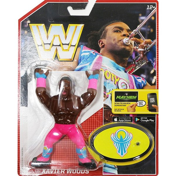 WWE Mattel Retro Series 5 Xavier Woods(エグザビア・ウッズ)fig180606|bdrop