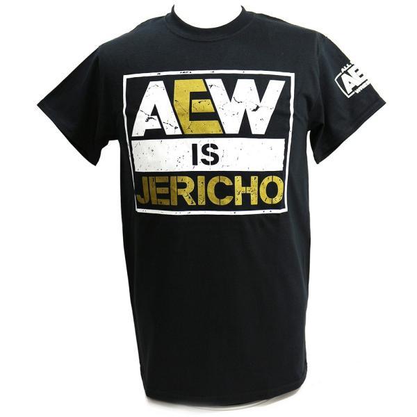 AEW Chris Jericho(クリス・ジェリコ) AEW is JERICHO ブラックTシャツ bdrop