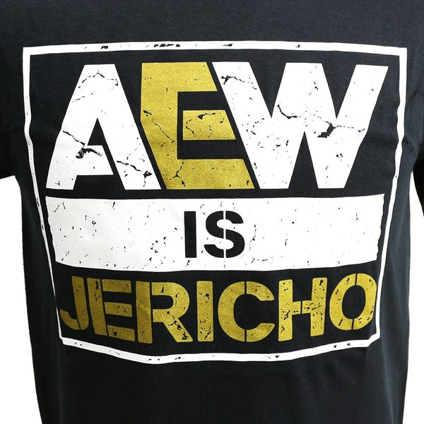 AEW Chris Jericho(クリス・ジェリコ) AEW is JERICHO ブラックTシャツ bdrop 02
