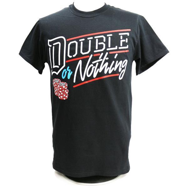 AEW Double or Nothing ブラックTシャツ|bdrop