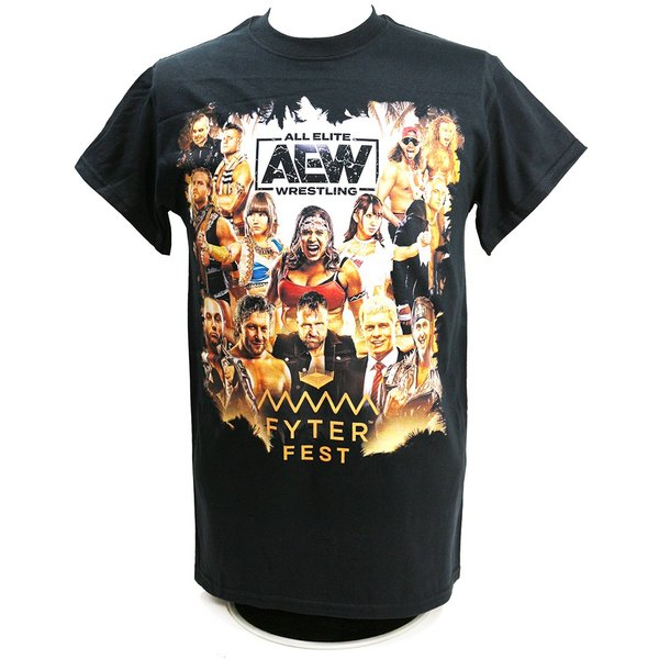 Tシャツ AEW Fyter Fest Full Talent ブラック|bdrop|01