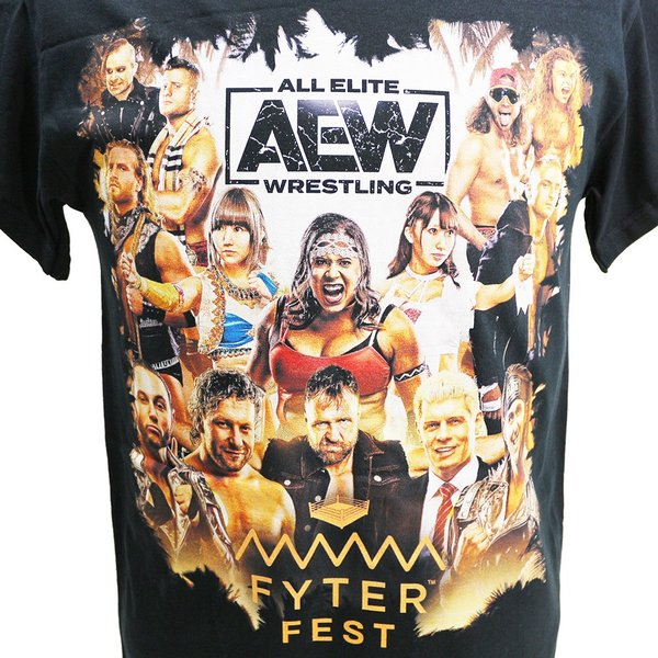 Tシャツ AEW Fyter Fest Full Talent ブラック|bdrop|02