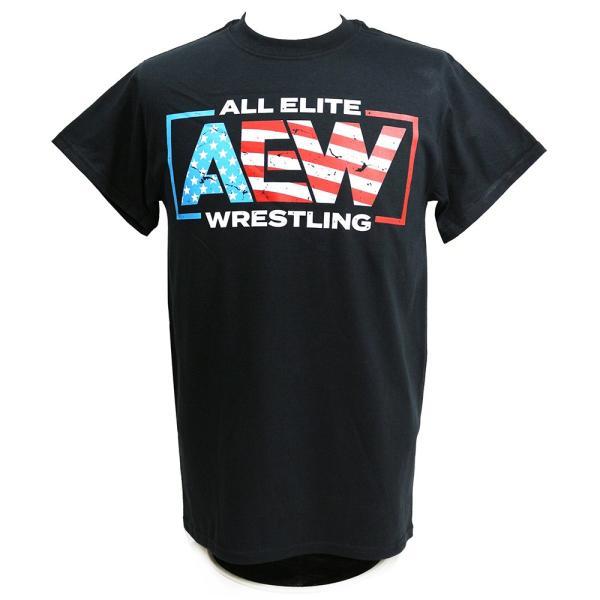 Tシャツ AEW Special Edition AEW USA ブラック|bdrop