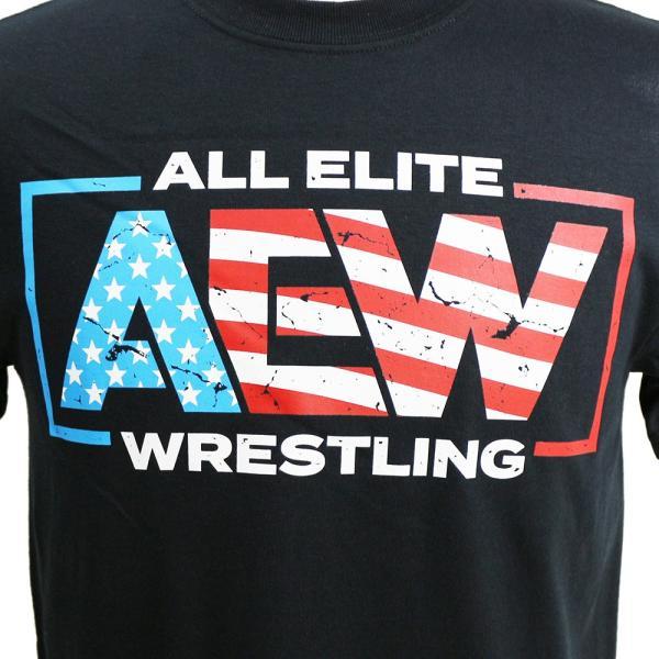 Tシャツ AEW Special Edition AEW USA ブラック|bdrop|02