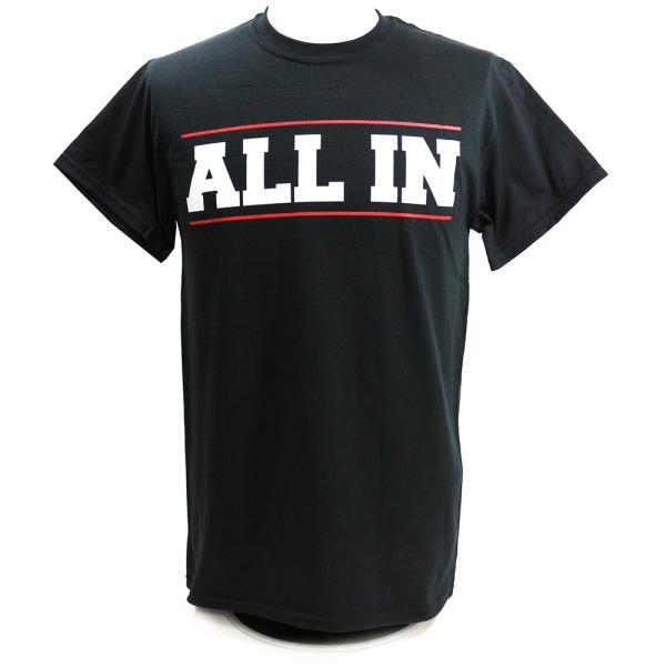 ALL IN ブラックTシャツ bdrop