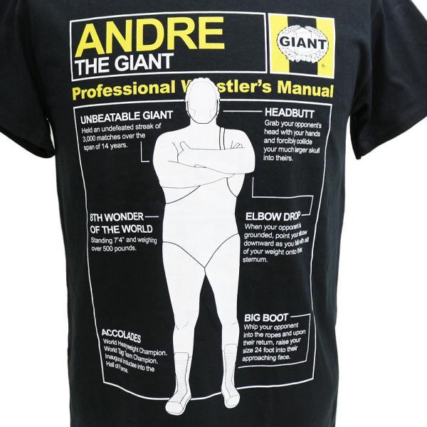 Tシャツ XXLサイズ:WWE Andre the Giant (アンドレ・ザ・ジャイアント) Andre Wrestlers Manual ブラック|bdrop|02