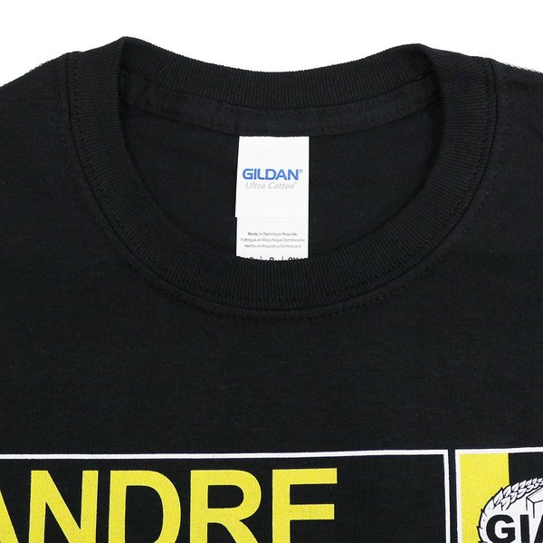 Tシャツ XXLサイズ:WWE Andre the Giant (アンドレ・ザ・ジャイアント) Andre Wrestlers Manual ブラック|bdrop|04