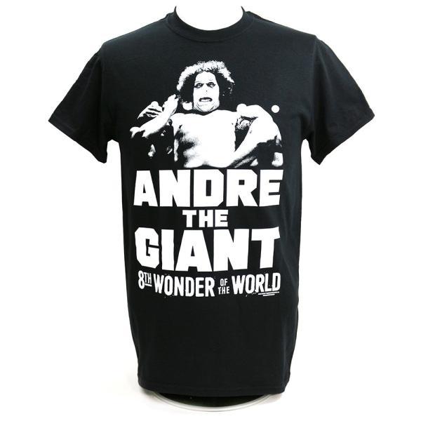 WWE Andre the Giant (アンドレ・ザ・ジャイアント) The 8th Wonder ブラックTシャツ bdrop