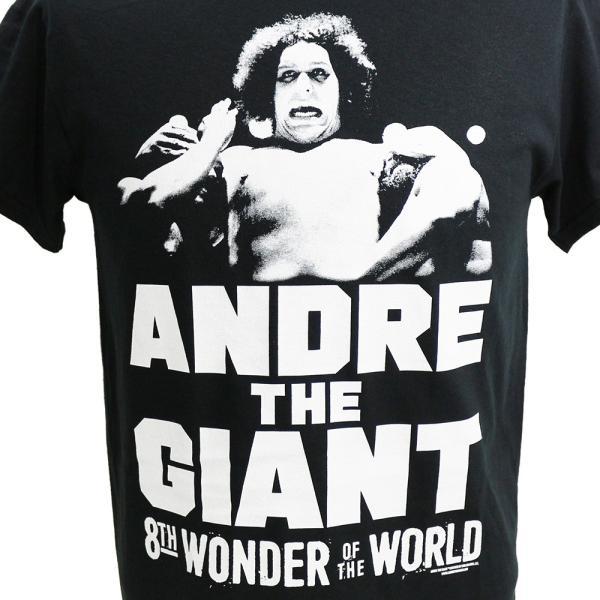 WWE Andre the Giant (アンドレ・ザ・ジャイアント) The 8th Wonder ブラックTシャツ bdrop 02