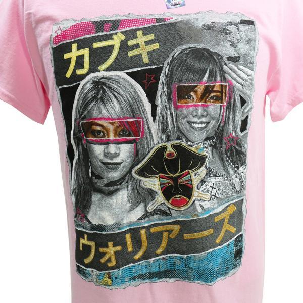 Tシャツ WWE Asuka and Kairi Sane(アスカ/カイリ・セイン) The Kabuki Warriors ピンク|bdrop|02