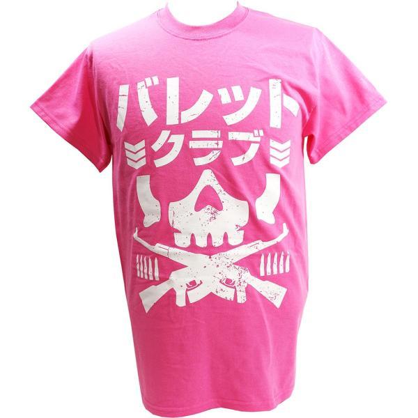 Tシャツ US版:新日本プロレス NJPW BULLET CLUB(バレット・クラブ) Katakana ピンク|bdrop