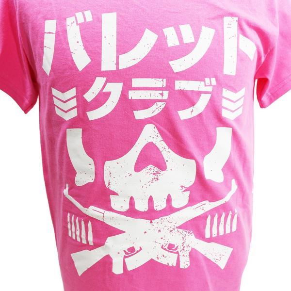 Tシャツ US版:新日本プロレス NJPW BULLET CLUB(バレット・クラブ) Katakana ピンク|bdrop|02