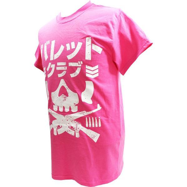 Tシャツ US版:新日本プロレス NJPW BULLET CLUB(バレット・クラブ) Katakana ピンク|bdrop|03