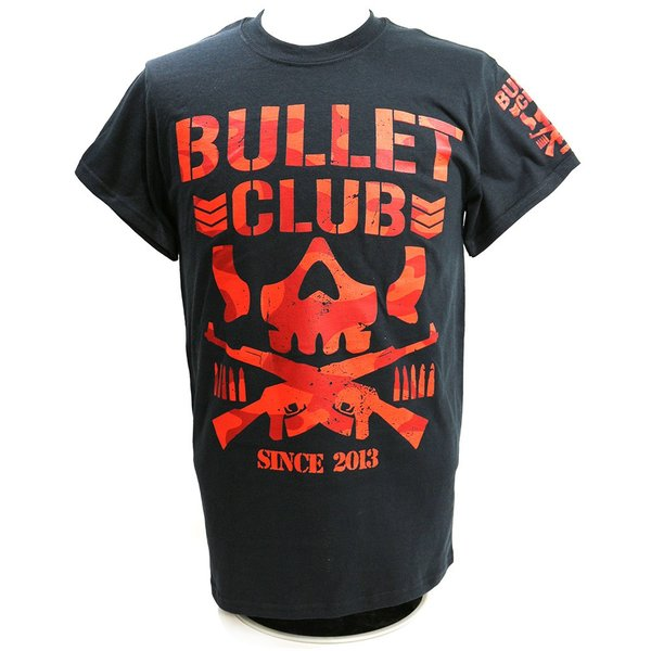 Tシャツ US版:新日本プロレス NJPW BULLET CLUB(バレット・クラブ) Red Camo ブラック|bdrop