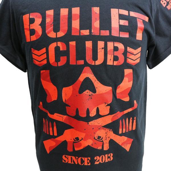 Tシャツ US版:新日本プロレス NJPW BULLET CLUB(バレット・クラブ) Red Camo ブラック|bdrop|02