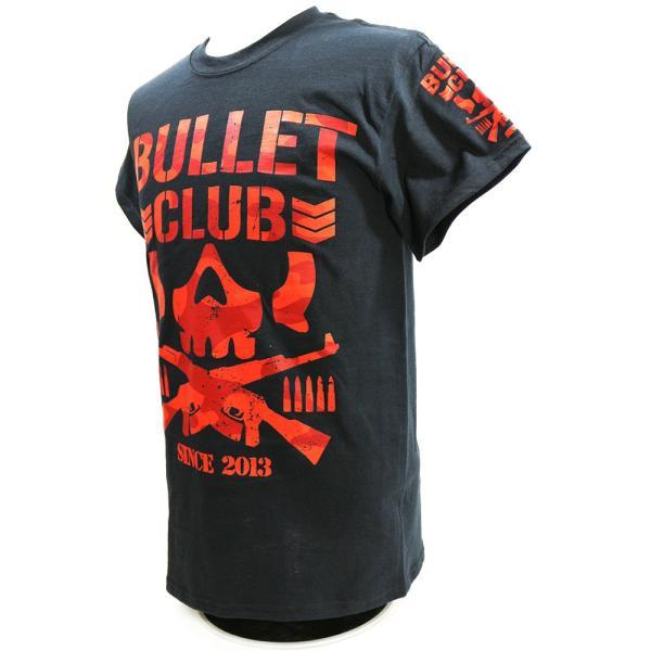 Tシャツ US版:新日本プロレス NJPW BULLET CLUB(バレット・クラブ) Red Camo ブラック|bdrop|03