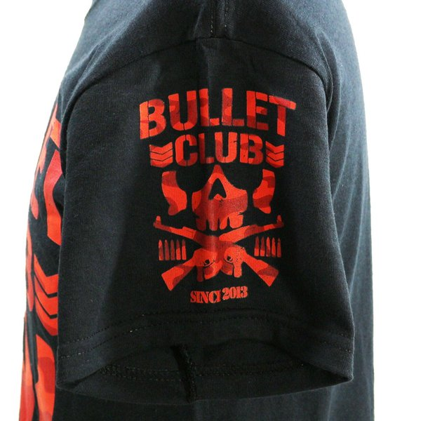 Tシャツ US版:新日本プロレス NJPW BULLET CLUB(バレット・クラブ) Red Camo ブラック|bdrop|04