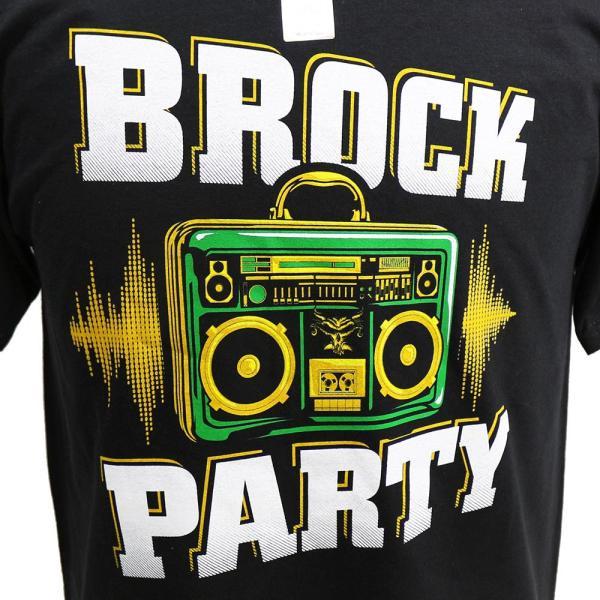 Tシャツ WWE Brock Lesnar (ブロック・レスナー) Brock Party ブラック bdrop 02