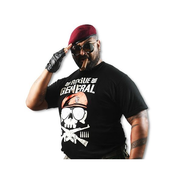 Tシャツ 新日本プロレス NJPW バッドラック・ファレ「ROGUE GENERAL BC」|bdrop|03