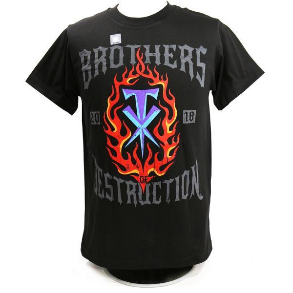 WWE The Brothers of Destruction 2018(破壊兄弟) ブラックTシャツ|bdrop