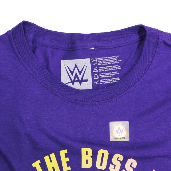 WWE Boss n Hug Connection(ザ・ボス・アンド・ハグ・コネクション) Smiley Face パープルTシャツ|bdrop|06
