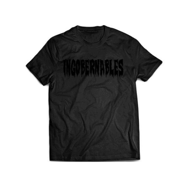 Tシャツ 新日本プロレス NJPW BUSHI「INGOBERNABLES」(ブラック×ブラック) bdrop