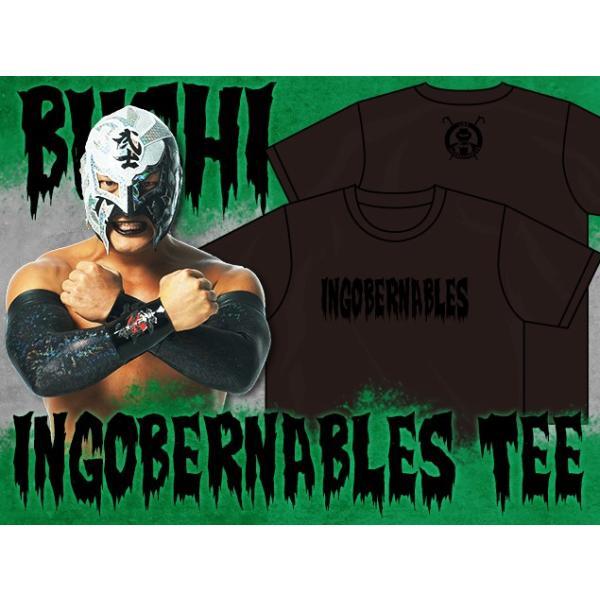 Tシャツ 新日本プロレス NJPW BUSHI「INGOBERNABLES」(ブラック×ブラック) bdrop 03