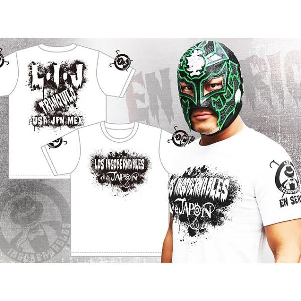 新日本プロレス NJPW BUSHI×L・I・J「MIST」Tシャツ(ホワイト×ブラック)|bdrop|04