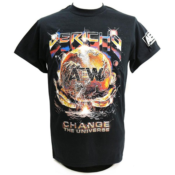 Tシャツ AEW Chris Jericho(クリス・ジェリコ) Change The Universe ブラック|bdrop