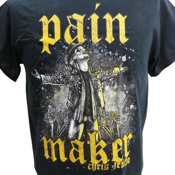 Tシャツ US版:新日本プロレス NJPW Chris Jericho (クリス・ジェリコ) Painmaker ブラック|bdrop|02