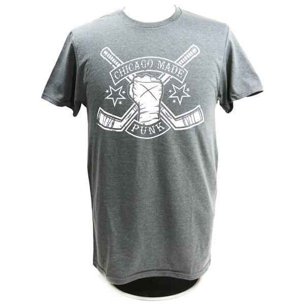 Tシャツ CM PUNK(CMパンク) HOCKEY STICKS チャコール|bdrop