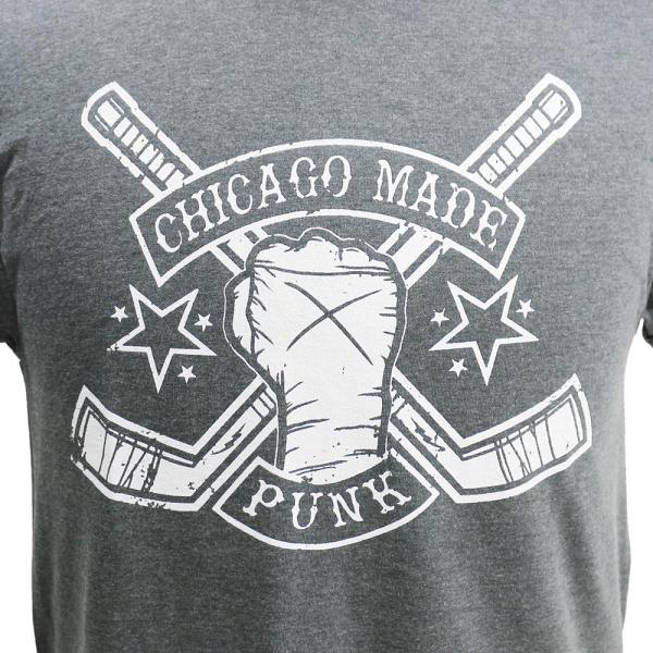 Tシャツ CM PUNK(CMパンク) HOCKEY STICKS チャコール|bdrop|02