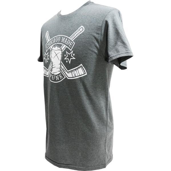Tシャツ CM PUNK(CMパンク) HOCKEY STICKS チャコール|bdrop|03