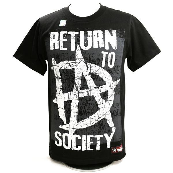 WWE Dean Ambrose (ディーン・アンブローズ) Return to Society ブラックTシャツ|bdrop
