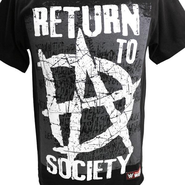 WWE Dean Ambrose (ディーン・アンブローズ) Return to Society ブラックTシャツ|bdrop|02