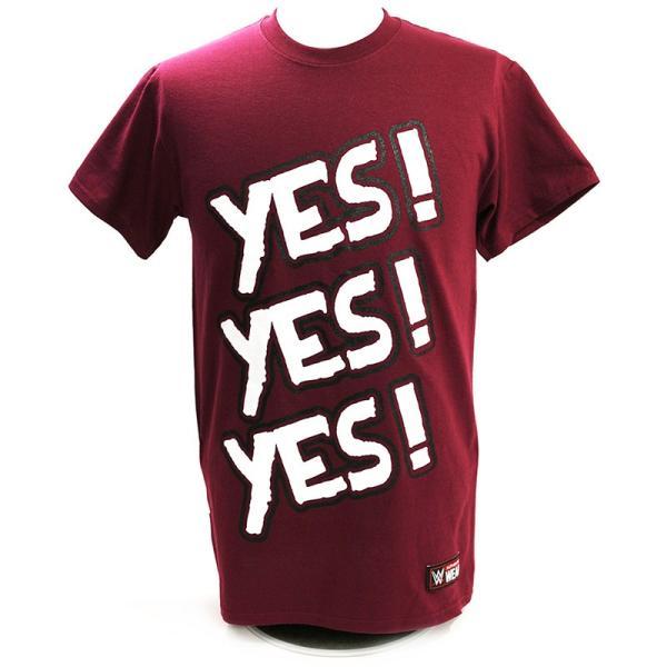 WWE Daniel Bryan(ダニエル・ブライアン) Yes マルーンTシャツ|bdrop