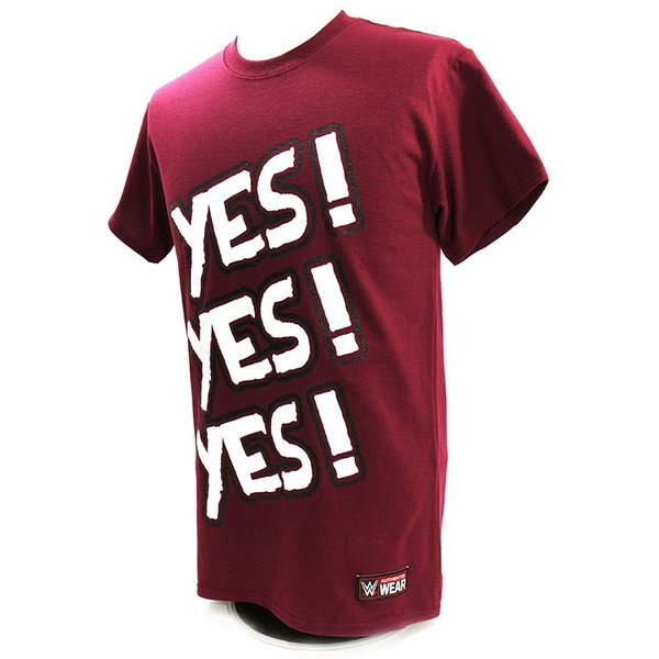 WWE Daniel Bryan(ダニエル・ブライアン) Yes マルーンTシャツ|bdrop|03